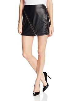 Sanctuary Clothing Women's Perforated Vegan Mini Skirt