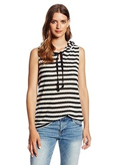 Sanctuary Clothing Women's Sleeveless Fawn Hoody Blouse