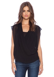 Sanctuary Drapy Wrap Top