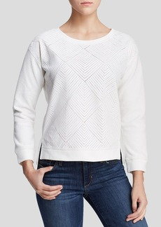 Sanctuary Dreamer Diamond Faux Leather Sweater