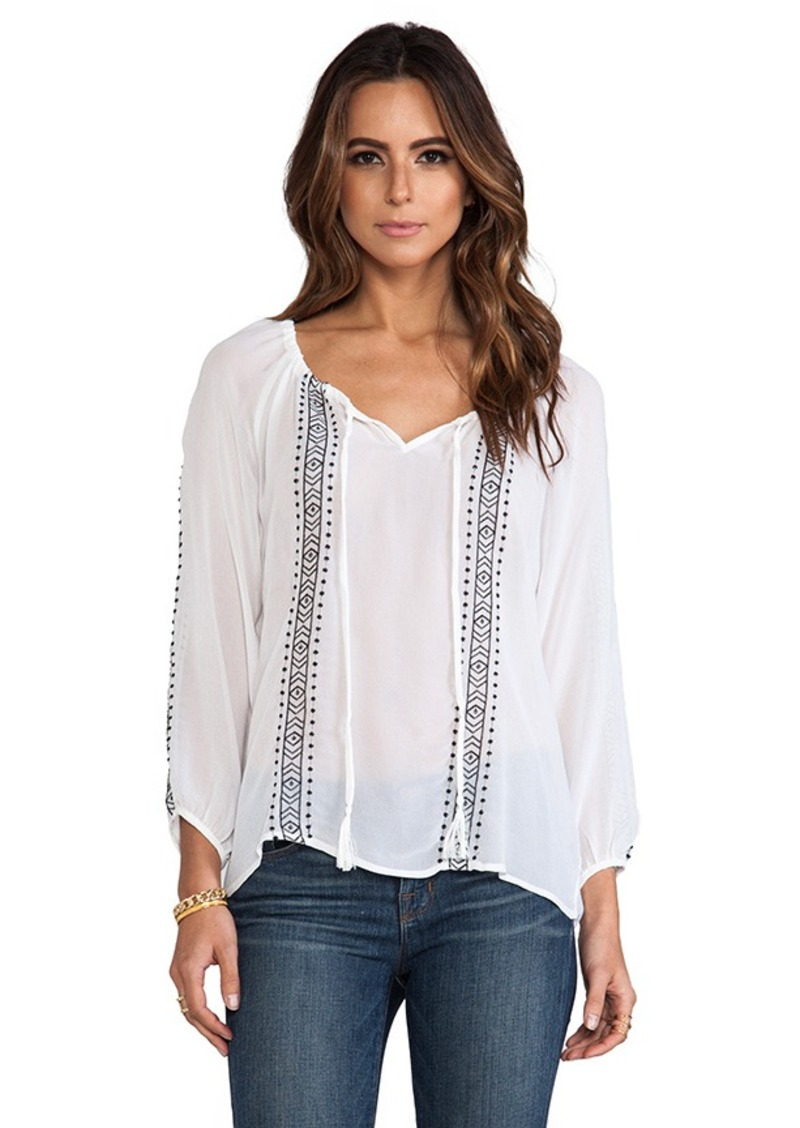 White Boho Blouse 29