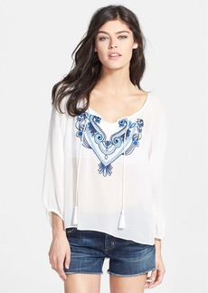 Sanctuary Embroidered Peasant Blouse