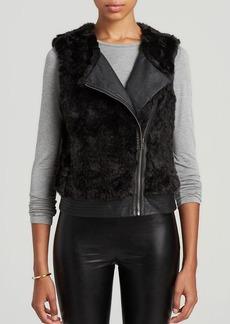 Sanctuary Faux Fur Moto Vest