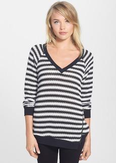 Sanctuary 'Fawn' Stripe Zip Hem Sweater