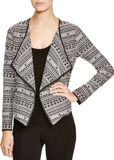 Sanctuary Graphic Print Drape Front Jacket