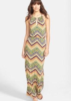 Sanctuary 'Island' Chevron Print Cutout Maxi Dress
