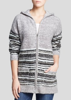 Sanctuary Jacquard Hooded Cardigan