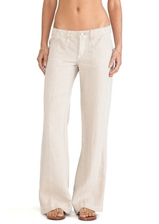 Sanctuary Linen Breezeway Pants in Taupe