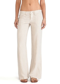 Sanctuary Linen Breezeway Wide Leg Pants in Beige