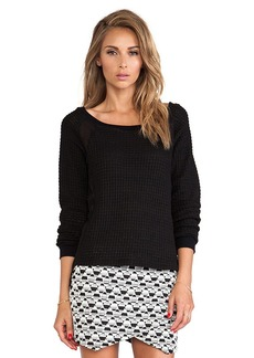 Sanctuary Mix & Match Sweater in Black