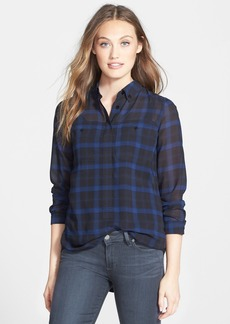 Sanctuary 'Paris' Plaid Tunic Shirt