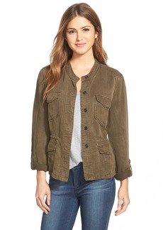 Sanctuary 'Sunset Safari' Band Collar Twill Jacket