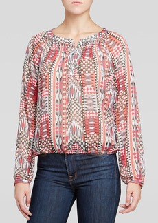 Sanctuary Tribal Print Peasant Top