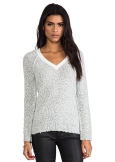 Sanctuary Winter V-Neck Sweater in Light Gray