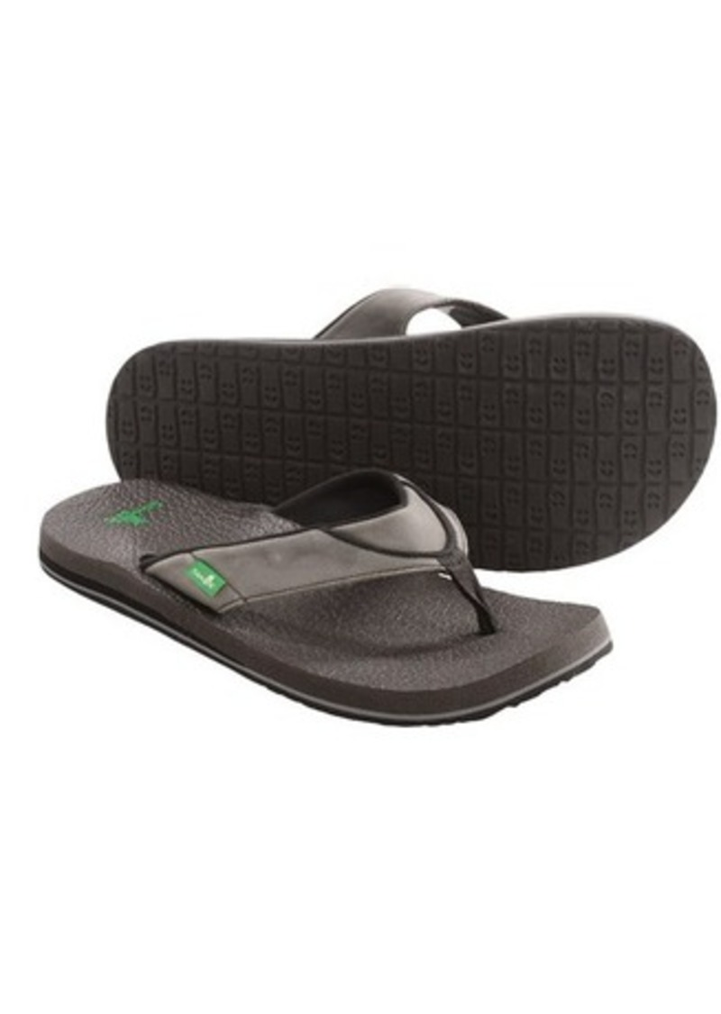 Sanuk Sanuk Beer Cozy Primo Flip Flops Leather For Men
