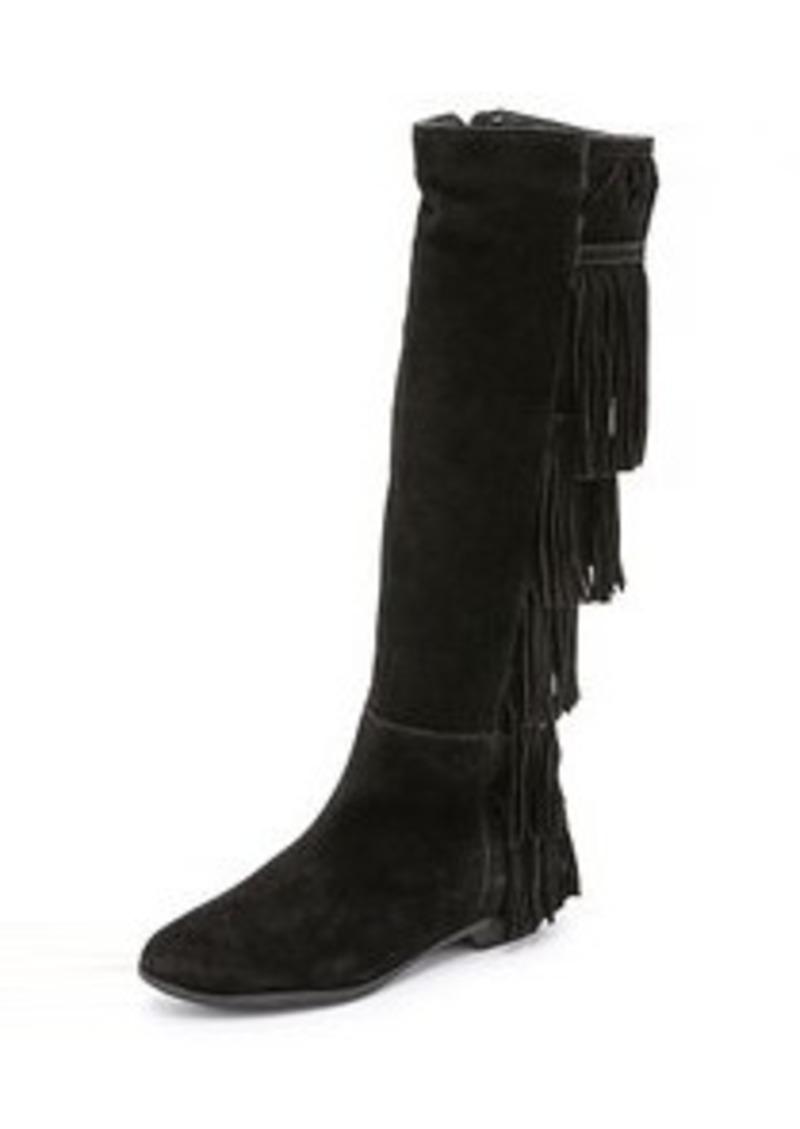 schutz schutz kamilia suede fringe boots shoes shop it
