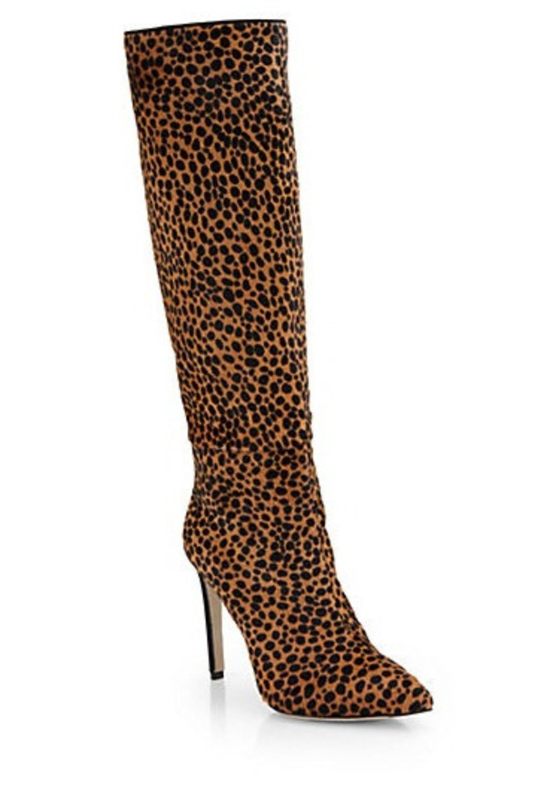 sergio rossi sergio rossi matrix calf hair knee high boots shoes shop it to me. Black Bedroom Furniture Sets. Home Design Ideas