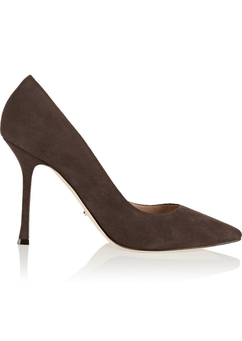 sergio rossi sergio rossi secret suede pumps shoes shop it to me. Black Bedroom Furniture Sets. Home Design Ideas
