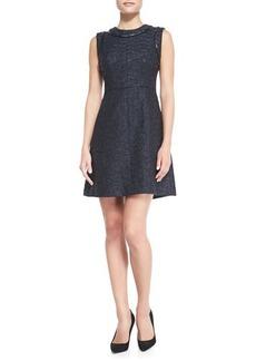 Shoshanna Abbie Lacquered Tweed Dress