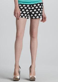 Shoshanna Aria Printed Jacquard Shorts