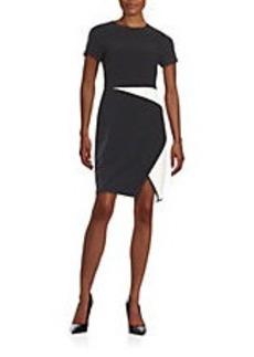 SHOSHANNA Asymmetric Mock Wrap Dress