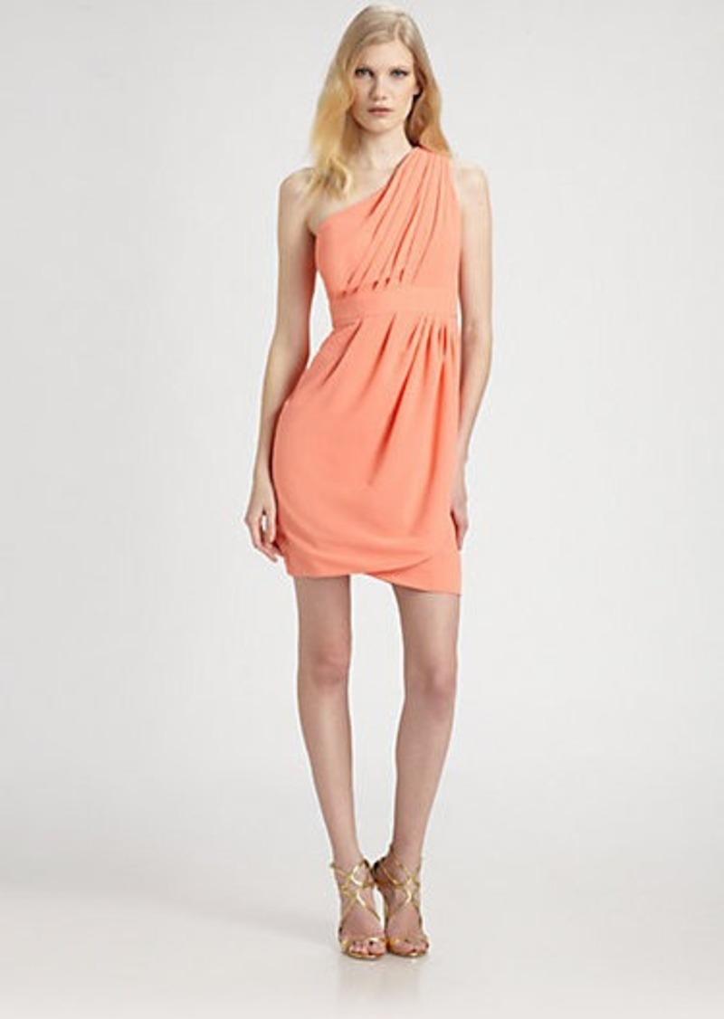 Shoshanna Asymmetrical Melanee Dress