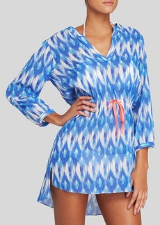 Shoshanna Baja Long Sleeve Drawstring Swim Cover Up