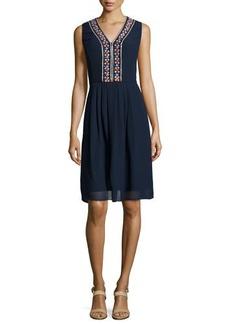 Shoshanna Beaded-Detail Sheath Dress