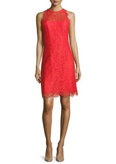 Shoshanna Bella Sleeveless Lace Sheath Dress