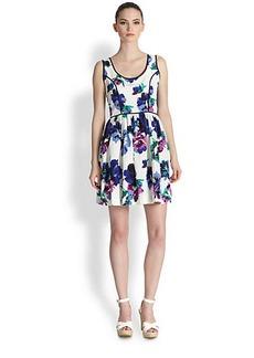Shoshanna Belrose Floral Seely Dress