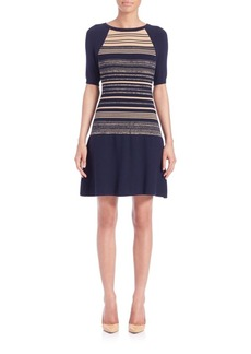 Shoshanna Bethany Striped Sweater Dress