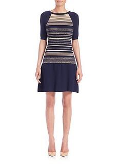 Shoshanna Bethany Striped Sweater Dress