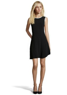 Shoshanna black and mint crepe 'Naama' fit and flare dress