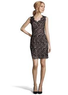 Shoshanna black cotton blend lace 'Pamela' sheath dress