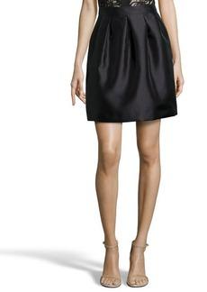 Shoshanna black gauze 'Quinn' pleated a-line skirt