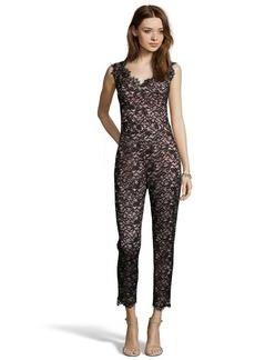 Shoshanna black lace 'Sierra' sleeveless jumpsuit