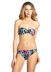 Shoshanna black printed stretch nylon 'Kailua Geo' bikini brief