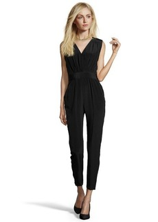 Shoshanna black silk 'Carlotta' sleeveless jumpsuit