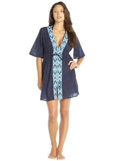 Shoshanna blue cotton beaded embroidered 'Maine' tunic
