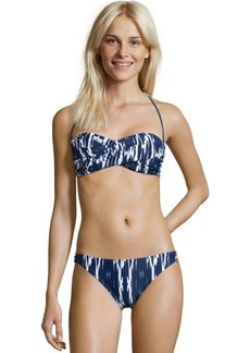 Shoshanna blue ikat printed stretch nylon 'East Lake' ring bikini bottom