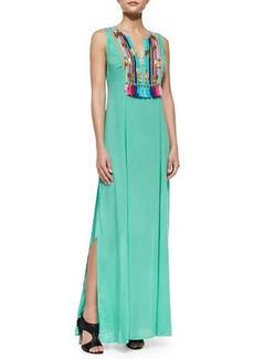 Shoshanna Boho Print Maxi Dress, Mint Green