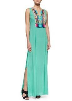 Shoshanna Boho Print Maxi Dress, Mint Green