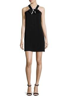 Shoshanna Bow-Detail Halter Shift Dress  Bow-Detail Halter Shift Dress