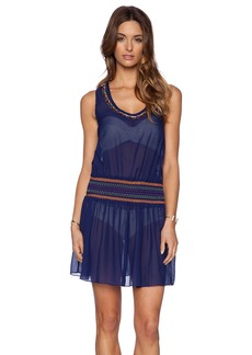 Shoshanna Candy Beading Smocked Tank Dress