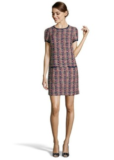 Shoshanna cap cana tweed 'Frida' short sleeve shift dress