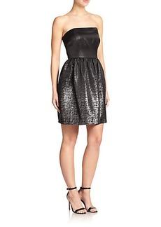 Shoshanna Chelsea Jacquard Fit-&-Flare Dress