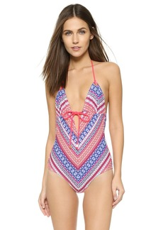 Shoshanna Chevron Tapestry Swimsuit
