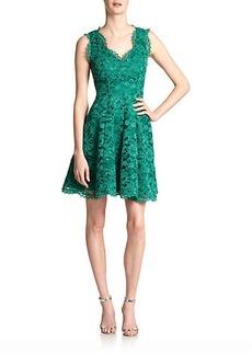 Shoshanna Cindy Flared Lace Dress