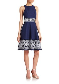 Shoshanna Clark Embroidered Dress