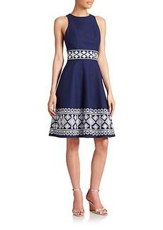 Shoshanna Clark Embroidered Dress